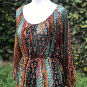 Anthropologie Akemi + Kim boho Sheer Dress
